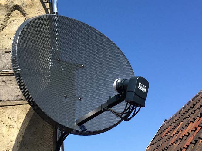 Satellite Dish Wells Cheddar